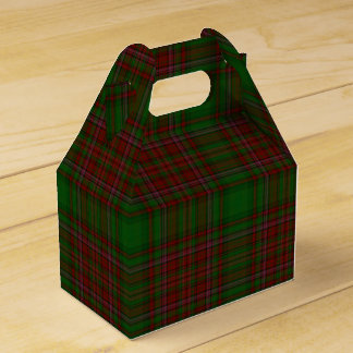Traditional Classic Red & Green Holiday Plaid Favour Box