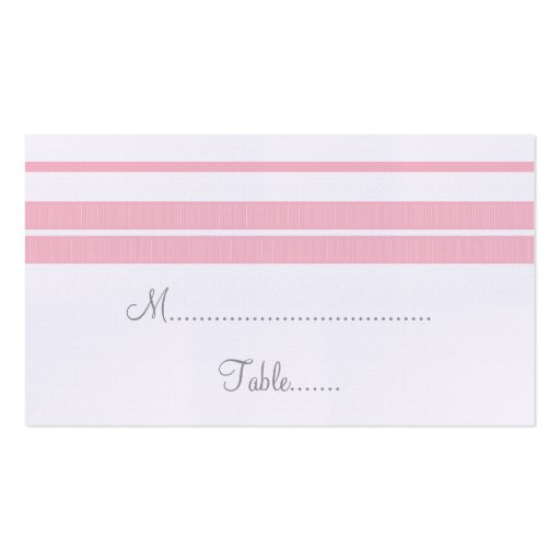 Traditional Classic Stripes Place Card Business Card Templates