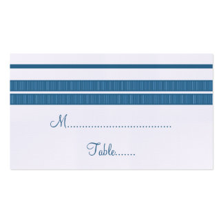 Traditional Classic Stripes Place Card Business Cards