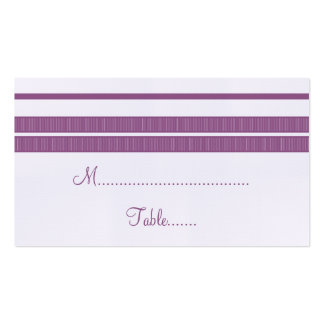 Traditional Classic Stripes Place Card Pack Of Standard Business Cards
