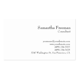 Traditional Clear Black White Minimalist Pack Of Standard Business Cards