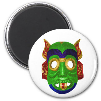 Traditional Colourful Thai Mask 6 Cm Round Magnet