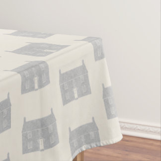 Traditional Country Cottage Motif Tablecloth