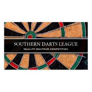 Traditional Dart Board Business Card
