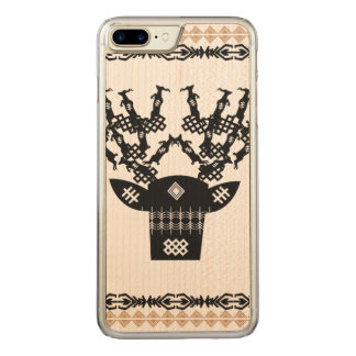 Traditional deer pattern carved iPhone 7 plus case