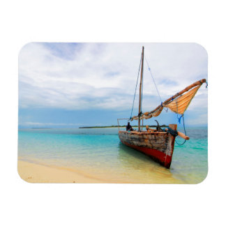Traditional Dhow, Zanzibar, Tanzania Rectangular Photo Magnet