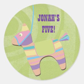 Traditional Donkey Fiesta Pinata Kids Birthday Classic Round Sticker