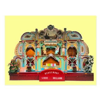 Traditional Dutch Barrel Organ Postcard