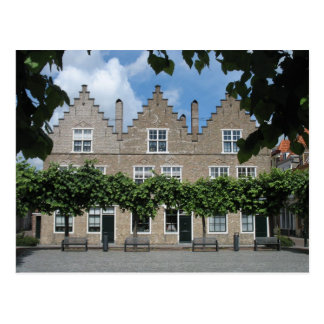 Traditional Dutch Houses Town Square Postcard