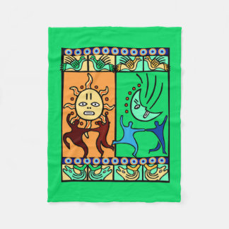 Traditional Elements Kwanzaa Fleece Blanket