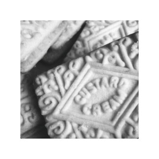 Traditional English custard cream photo art Canvas Print
