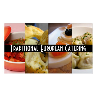 Traditional European Russian Catering Food Business Cards