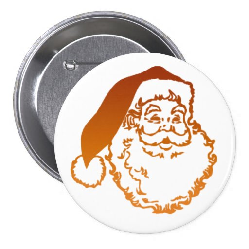 Traditional Father Christmas Art Button