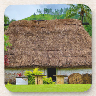 Traditional Fijian Bure, Navala Village, Fiji Coaster