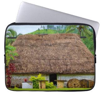 Traditional Fijian Bure, Navala Village, Fiji Laptop Sleeve