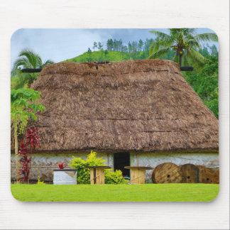 Traditional Fijian Bure, Navala Village, Fiji Mouse Pad