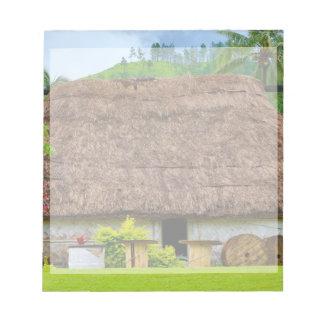 Traditional Fijian Bure, Navala Village, Fiji Notepad