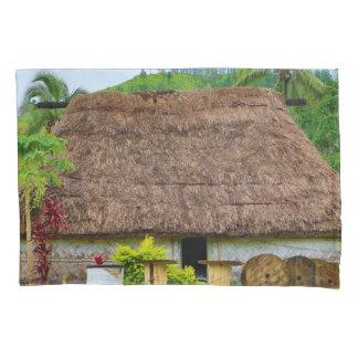 Traditional Fijian Bure, Navala Village, Fiji Pillowcase
