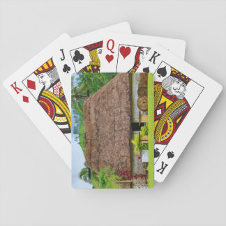 Traditional Fijian Bure, Navala Village, Fiji Playing Cards