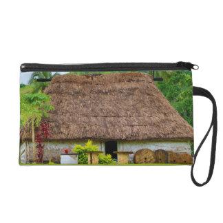 Traditional Fijian Bure, Navala Village, Fiji Wristlet Clutch