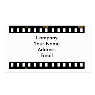 Traditional Film Business Card Template