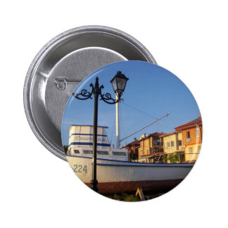 Traditional Fishing Boat 6 Cm Round Badge