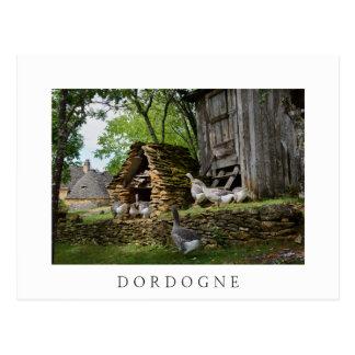 Traditional foie gras goose farm white postcard