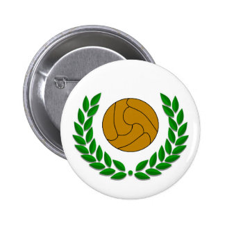 Traditional football soccer badge pinback button