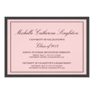 Traditional Formal University Graduation Events 13 Cm X 18 Cm Invitation Card