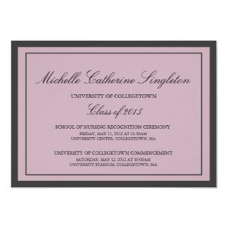 Traditional Formal University Graduation Events 13 Cm X 18 Cm Invitation Card
