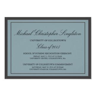 "Traditional Formal University Graduation Events 5"" X 7"" Invitation Card"