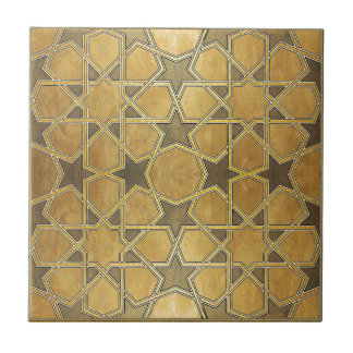 Traditional Geometric Pattern Small Square Tile