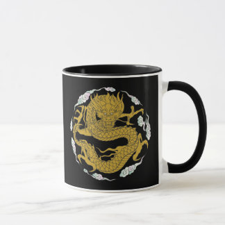Traditional Gold Dragon Mug