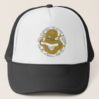 Traditional Gold Dragon Trucker Hat