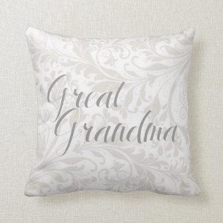 Traditional Great Grandma Damask Throw Pillow