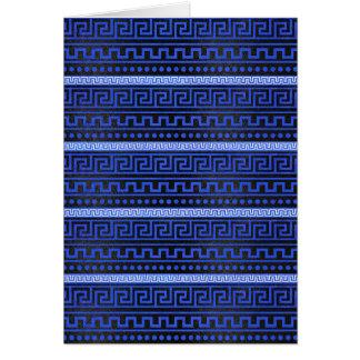 Traditional Greek Meander Pattern Card