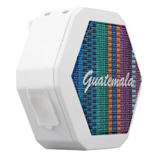 Traditional Guatemala fabric weave custom text White Boombot Rex Bluetooth Speaker