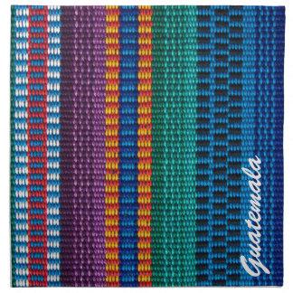 Traditional Guatemala fabric weave custom text Napkin