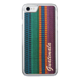Traditional Guatemala fabric weave text Carved iPhone 7 Case