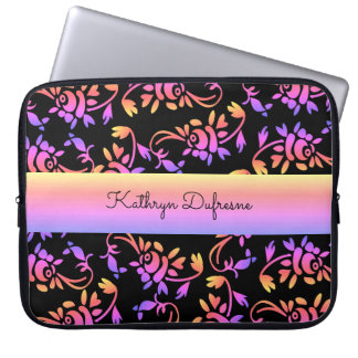 Traditional & Hip European Floral Laptop Sleeve