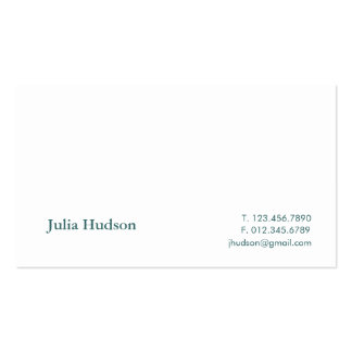 Traditional Hudson Card Business Card Templates