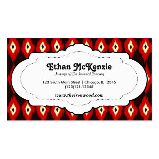 Traditional Ikat Business Card