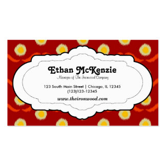 Traditional Ikat Business Cards