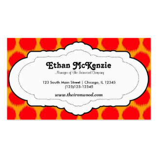 Traditional Ikat Business Card Template