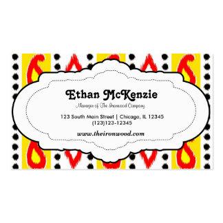 Traditional Ikat Business Card Templates