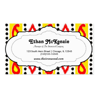 Traditional Ikat Pack Of Standard Business Cards