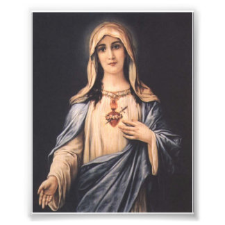 Traditional Immaculate Sorrowful Heart of Mary Photo Print