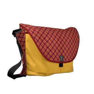Traditional in red and yellow messenger bag