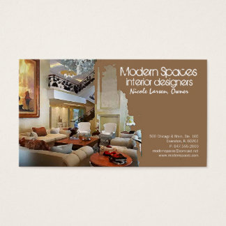 traditional interior business card