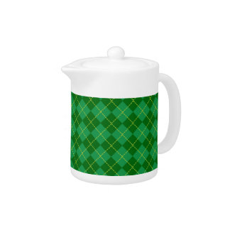 Traditional Irish Plaid Tartan Green Pattern